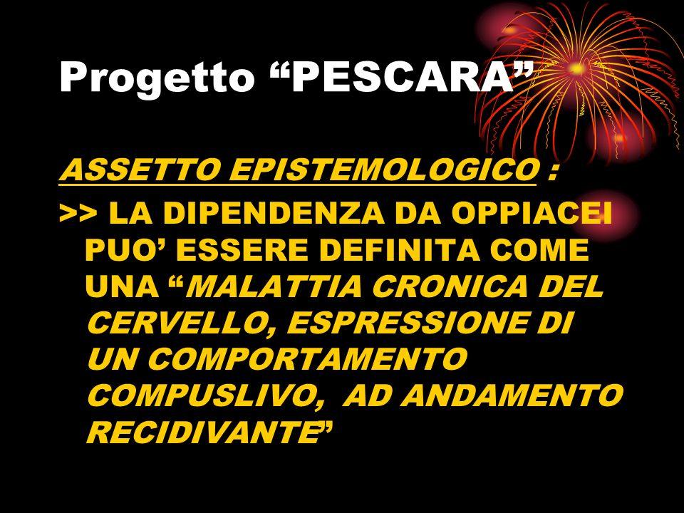 Progetto PESCARA ASSETTO EPISTEMOLOGICO :