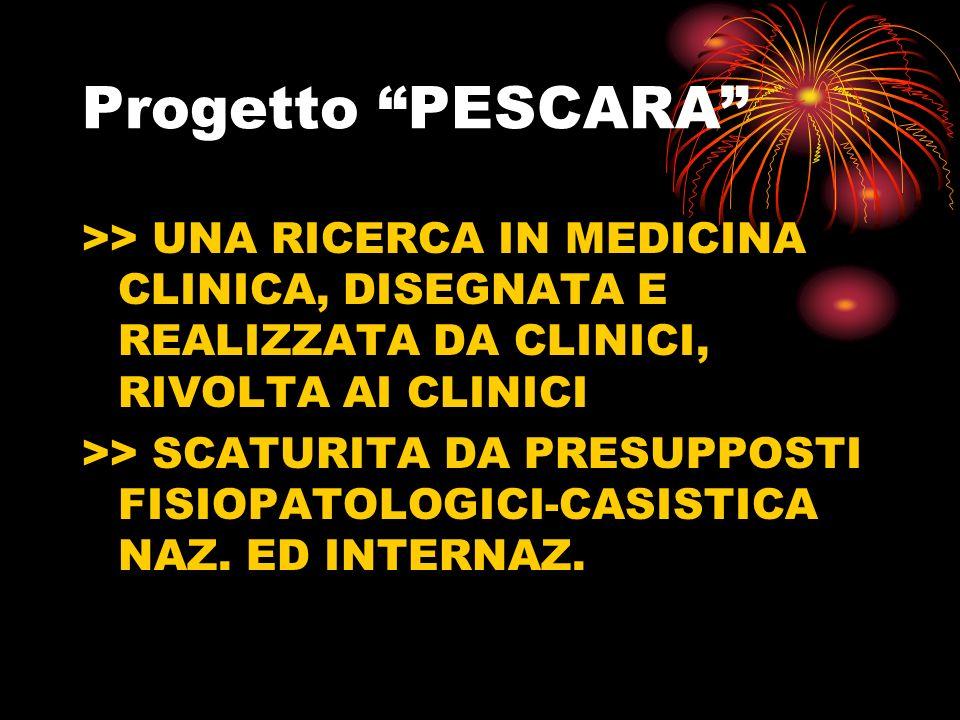 Progetto PESCARA >> UNA RICERCA IN MEDICINA CLINICA, DISEGNATA E REALIZZATA DA CLINICI, RIVOLTA AI CLINICI.