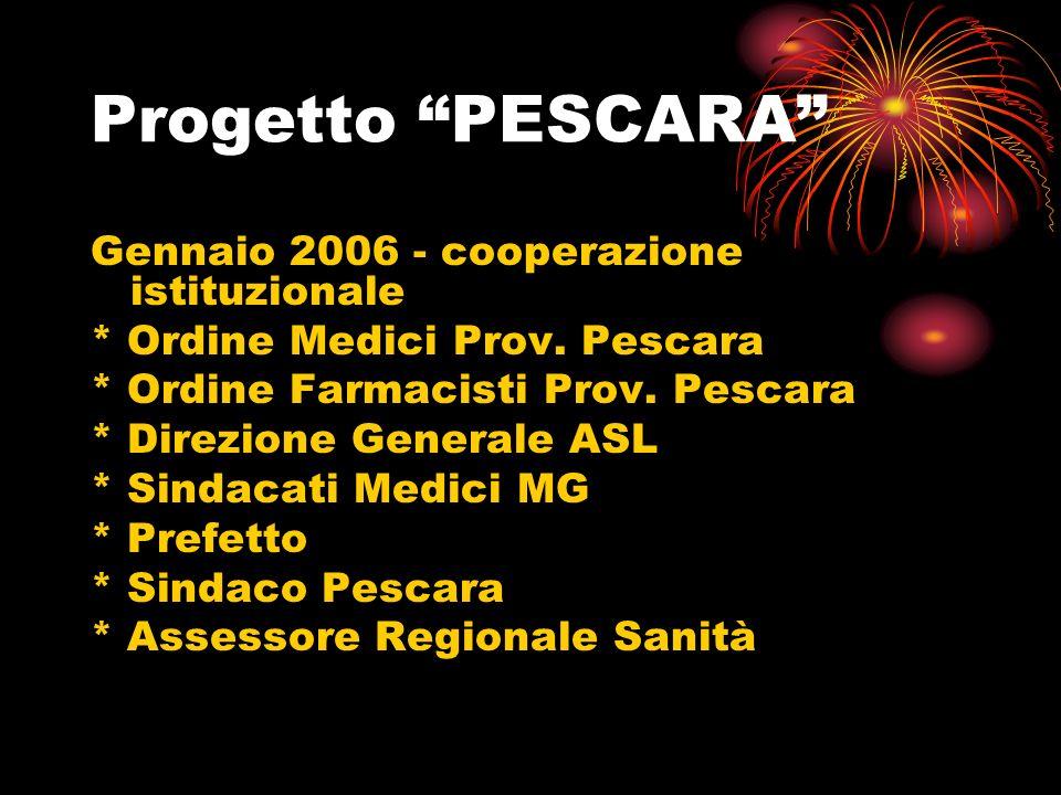 Progetto PESCARA Gennaio 2006 - cooperazione istituzionale