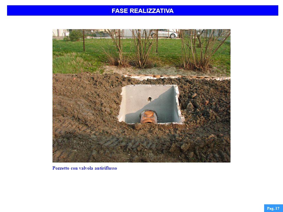FASE REALIZZATIVA Pozzetto con valvola antiriflusso Pag. 17