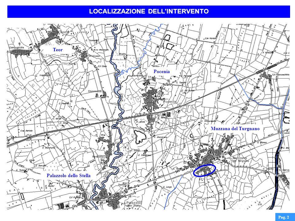 LOCALIZZAZIONE DELL'INTERVENTO Palazzolo dello Stella