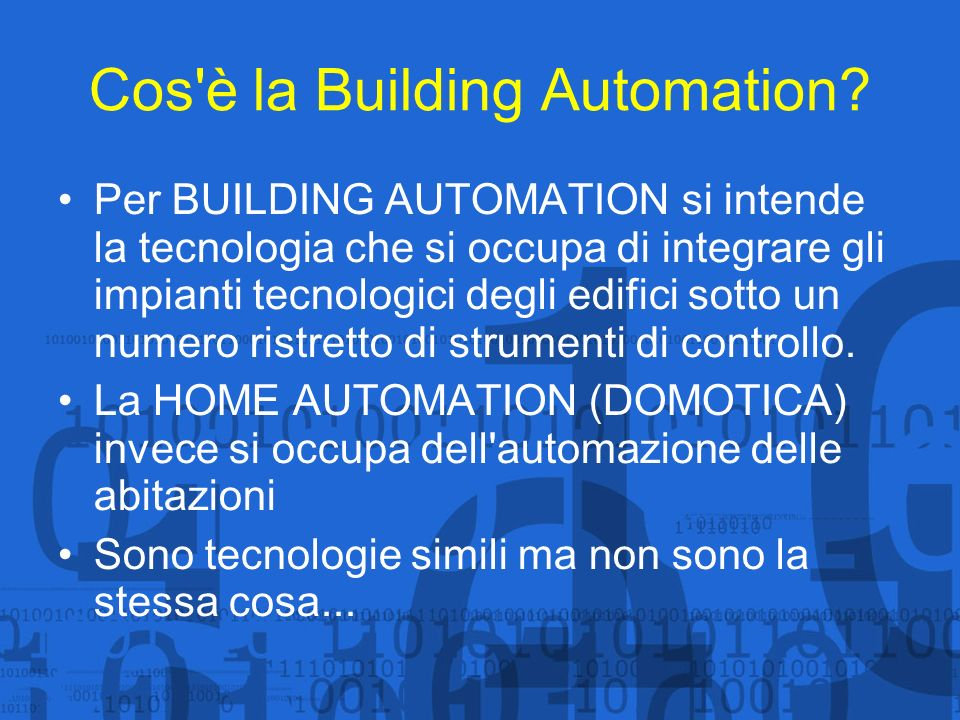 Cos è la Building Automation