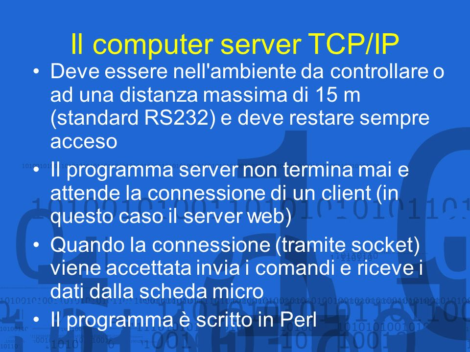 Il computer server TCP/IP