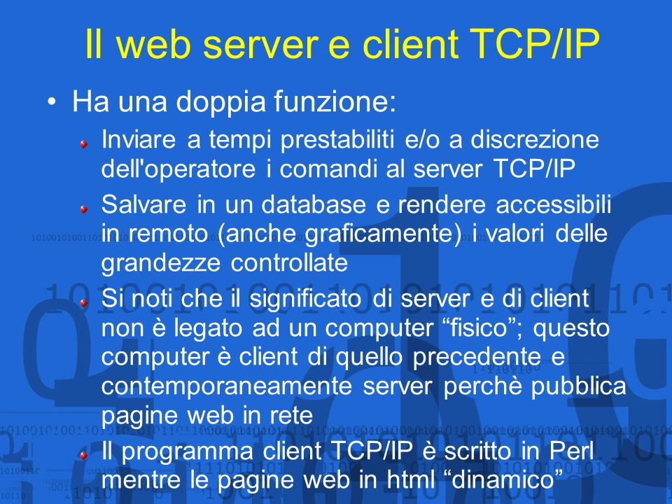 Il web server e client TCP/IP