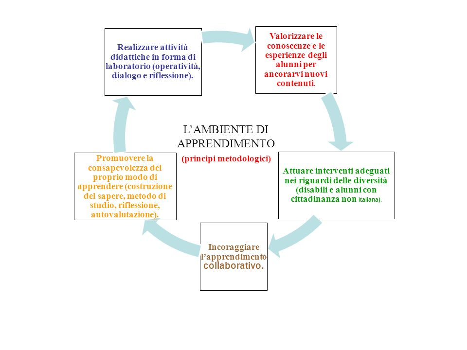 Incoraggiare l'apprendimento collaborativo.