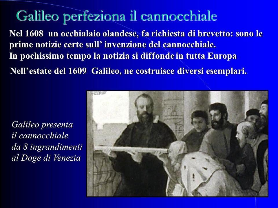 Galileo perfeziona il cannocchiale