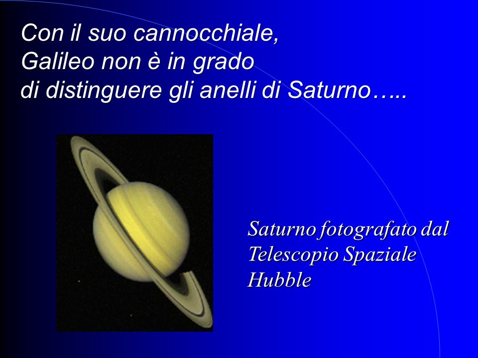 Con il suo cannocchiale, Galileo non è in grado