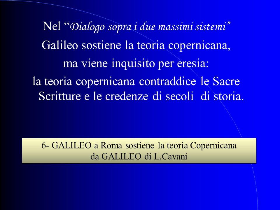 6- GALILEO a Roma sostiene la teoria Copernicana