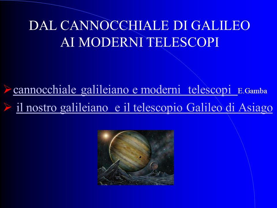 DAL CANNOCCHIALE DI GALILEO