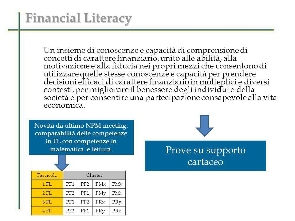 Financial Literacy Prove su supporto cartaceo
