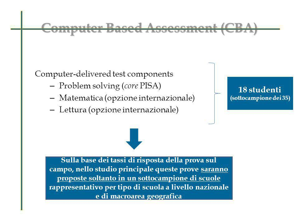 Computer Based Assessment (CBA)