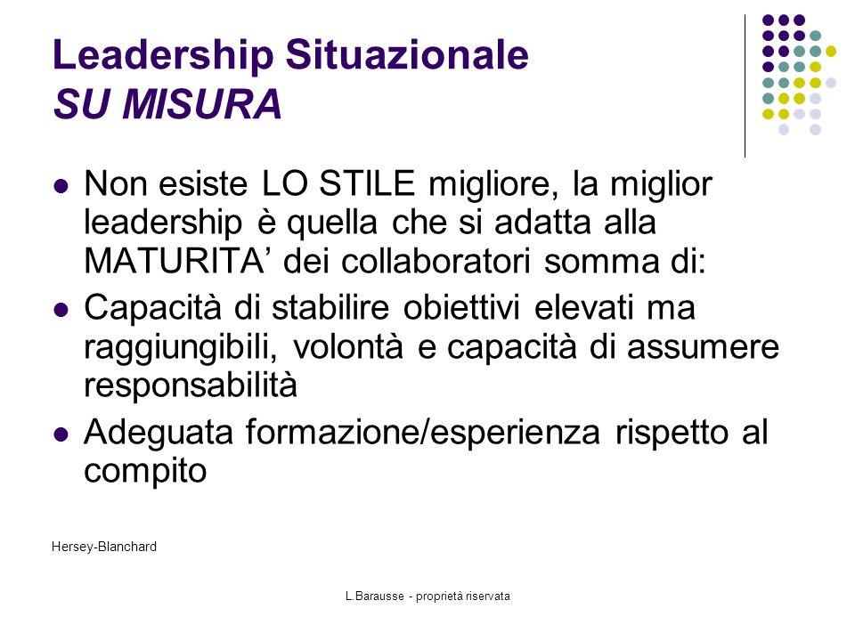 Leadership Situazionale SU MISURA