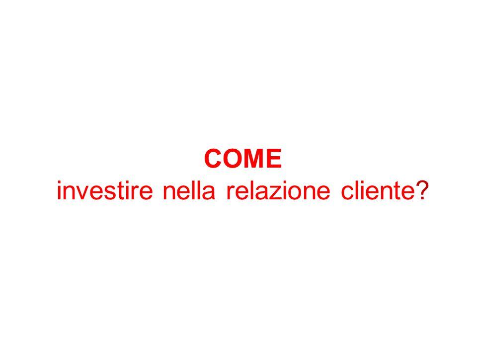 COME investire nella relazione cliente
