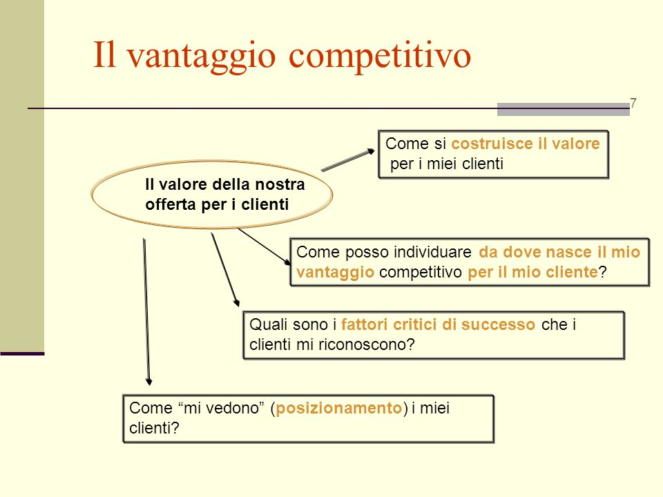 Il vantaggio competitivo