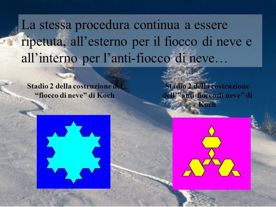La stessa procedura continua a essere ripetuta, all'esterno per il fiocco di neve e all'interno per l'anti-fiocco di neve…