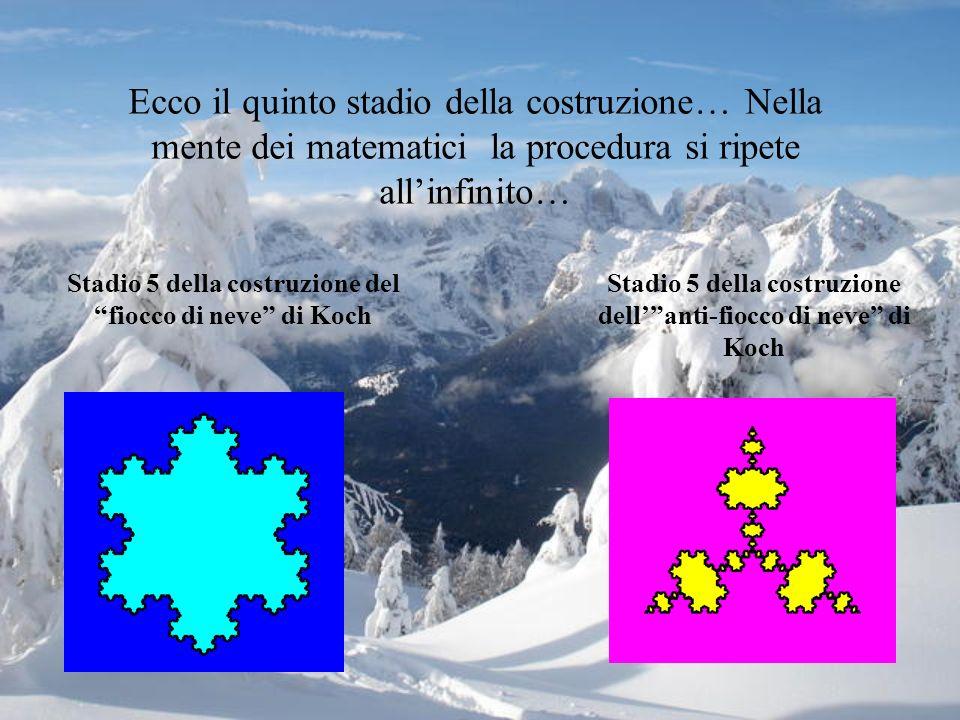 Ecco il quinto stadio della costruzione… Nella mente dei matematici la procedura si ripete all'infinito…