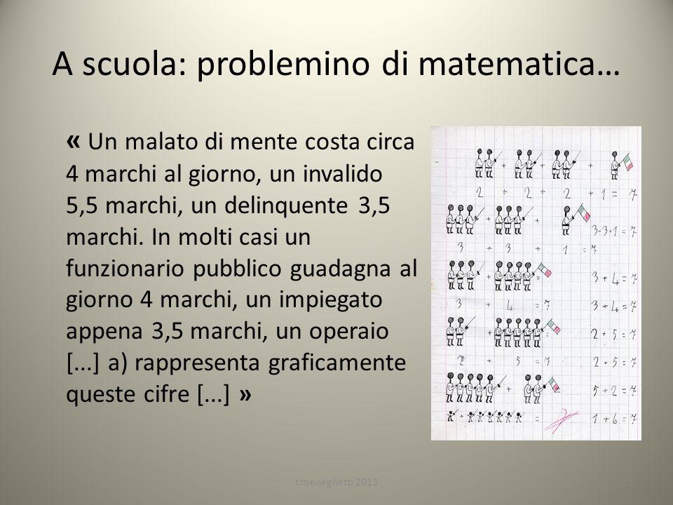 A scuola: problemino di matematica…