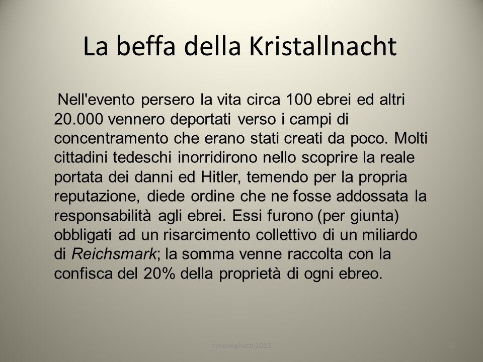 La beffa della Kristallnacht