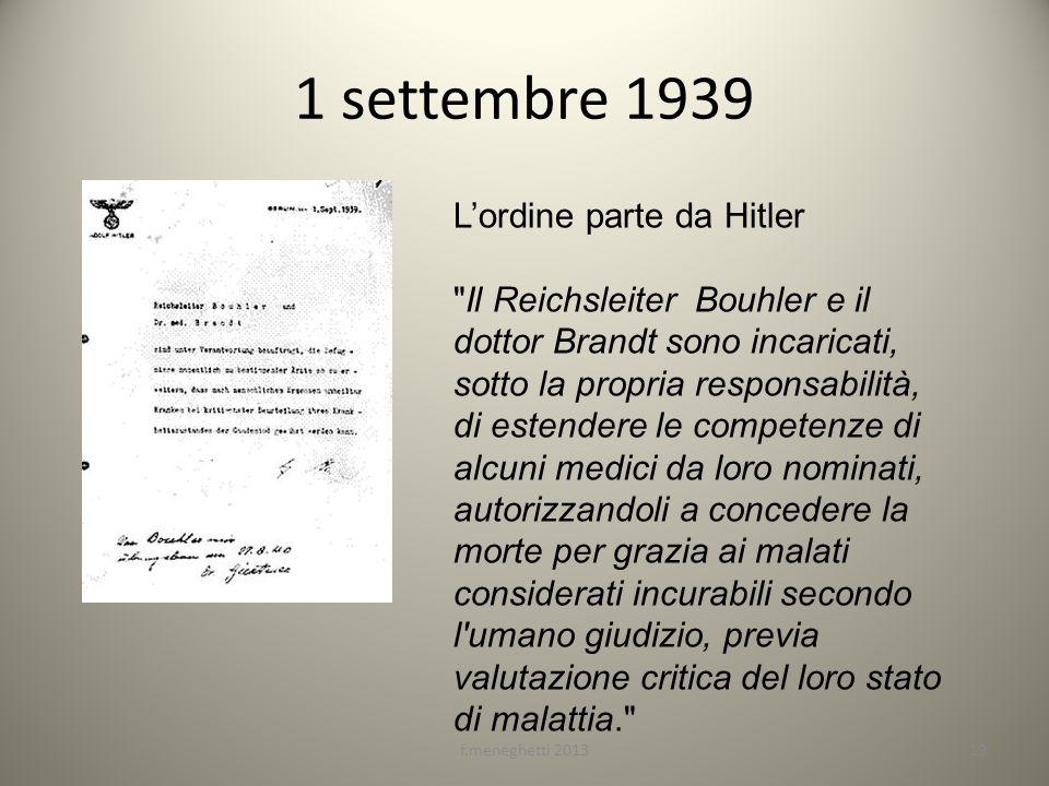 1 settembre 1939 L'ordine parte da Hitler