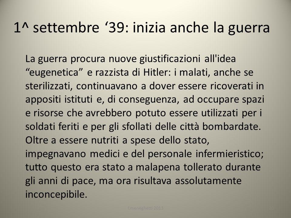 1^ settembre '39: inizia anche la guerra