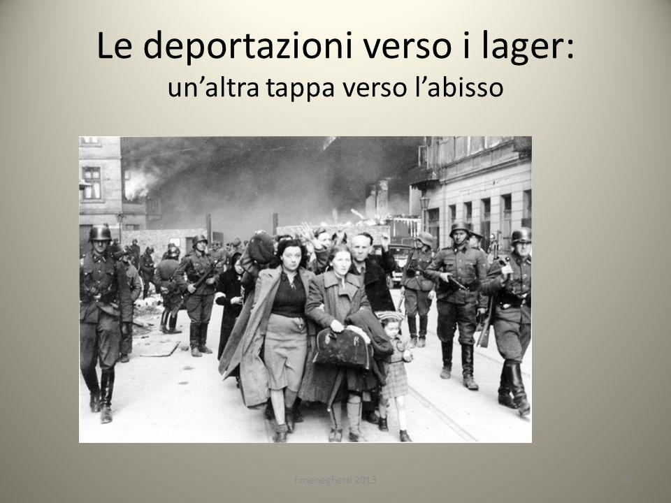 Le deportazioni verso i lager: un'altra tappa verso l'abisso