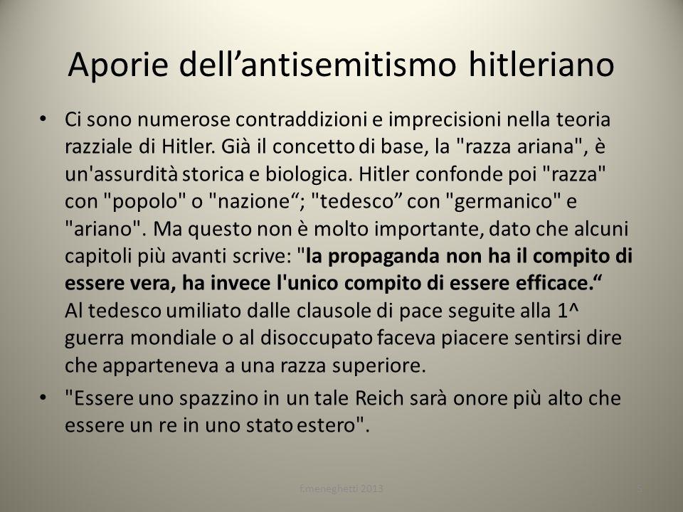 Aporie dell'antisemitismo hitleriano