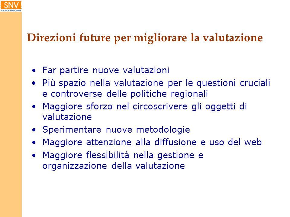 Direzioni future per migliorare la valutazione