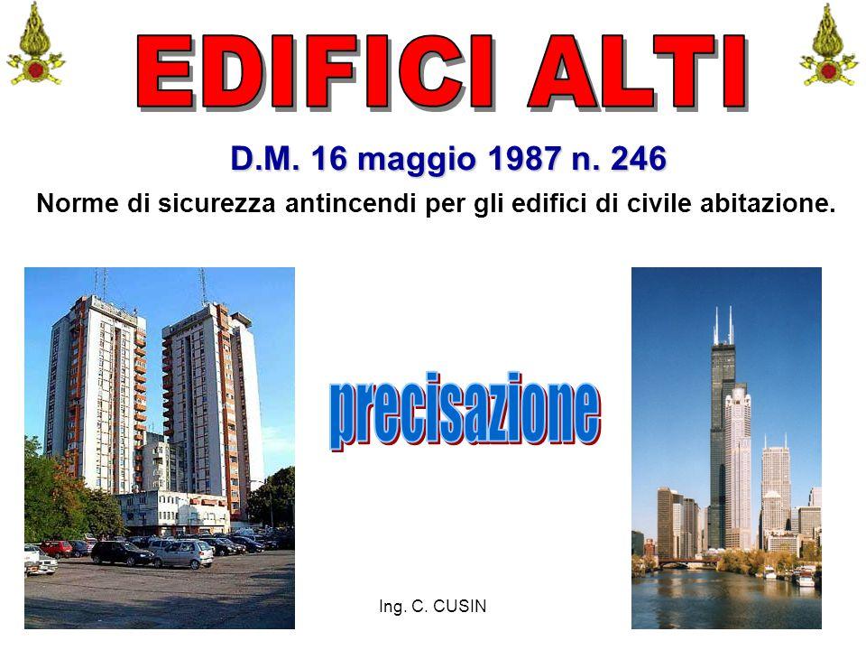 EDIFICI ALTI precisazione D.M. 16 maggio 1987 n. 246