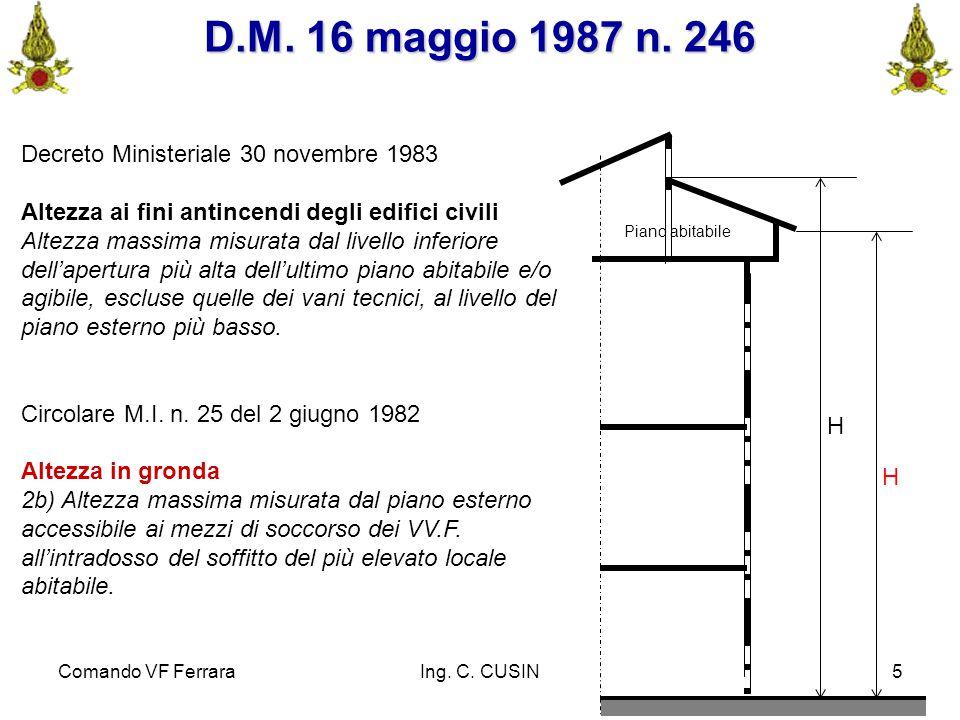 D.M. 16 maggio 1987 n. 246 Decreto Ministeriale 30 novembre 1983