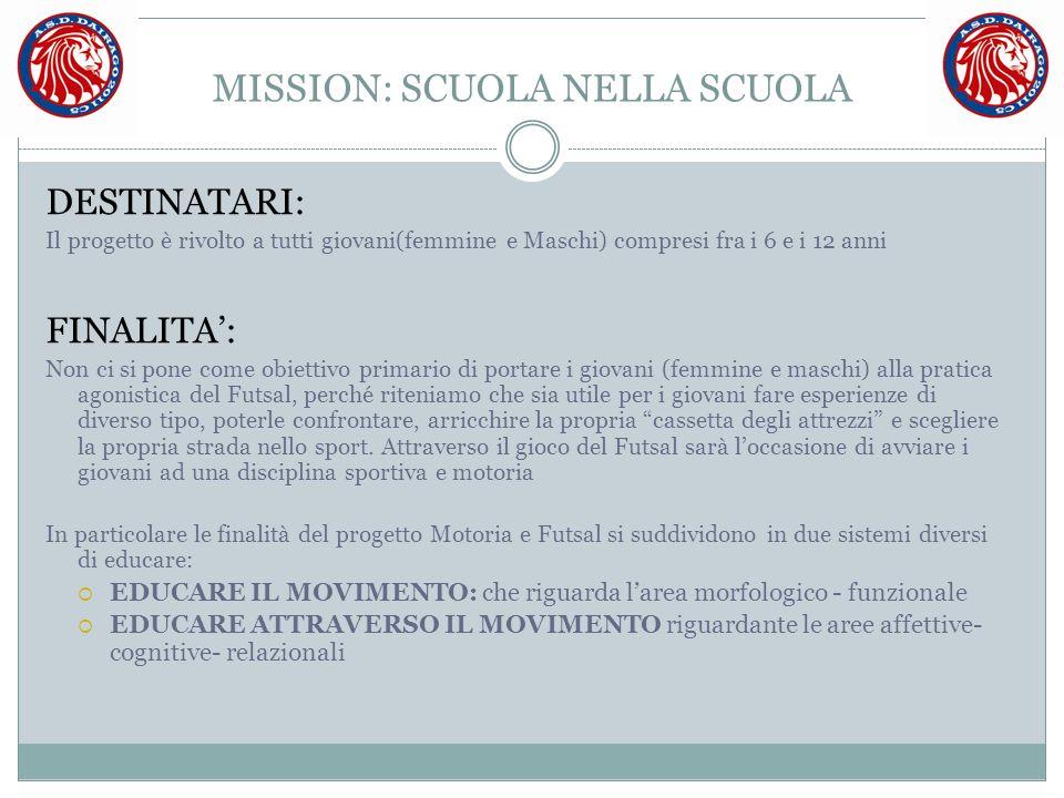 MISSION: SCUOLA NELLA SCUOLA