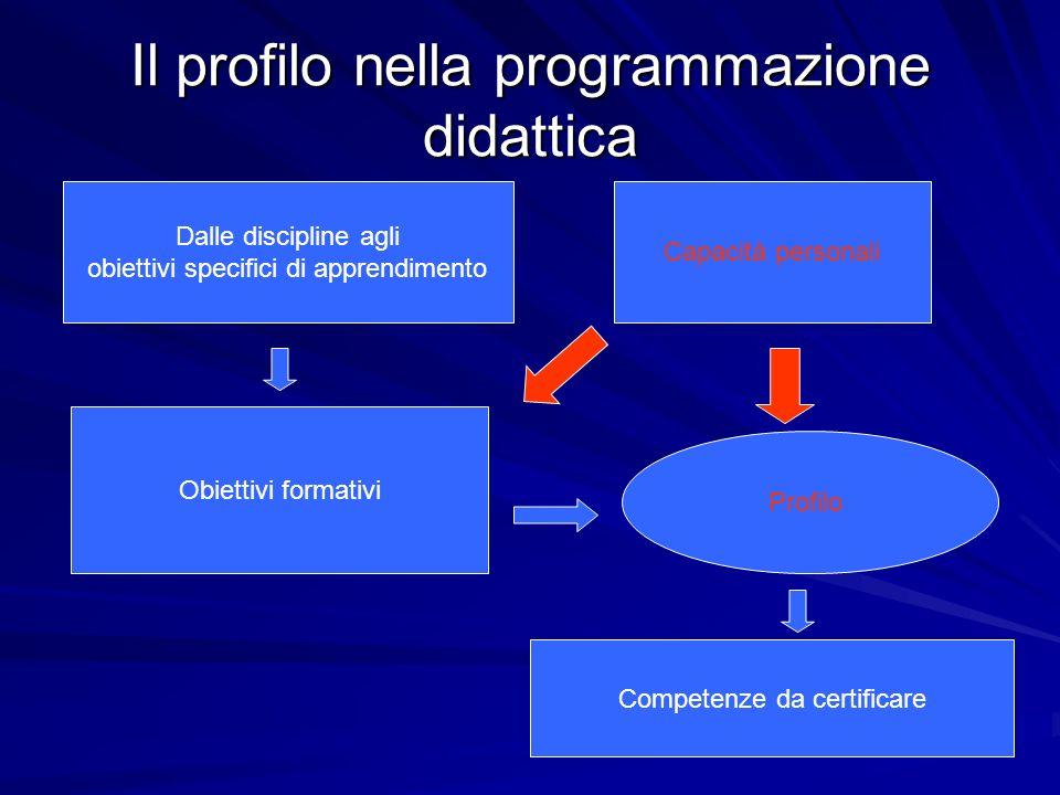 Il profilo nella programmazione didattica