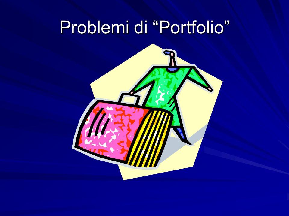 Problemi di Portfolio