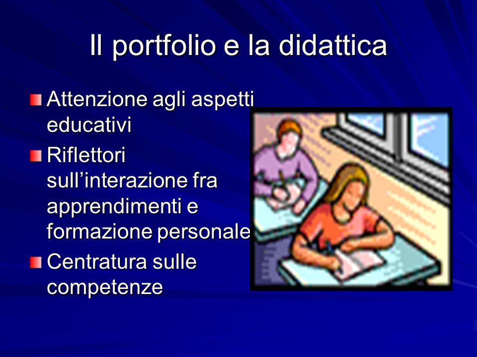 Il portfolio e la didattica