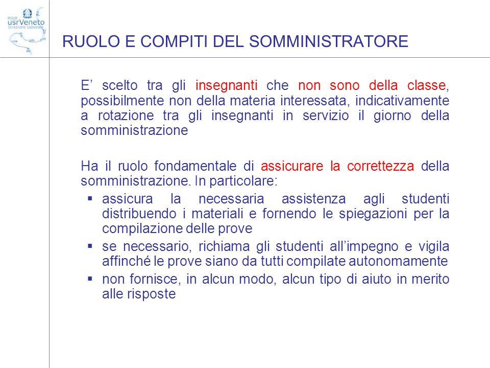 RUOLO E COMPITI DEL SOMMINISTRATORE