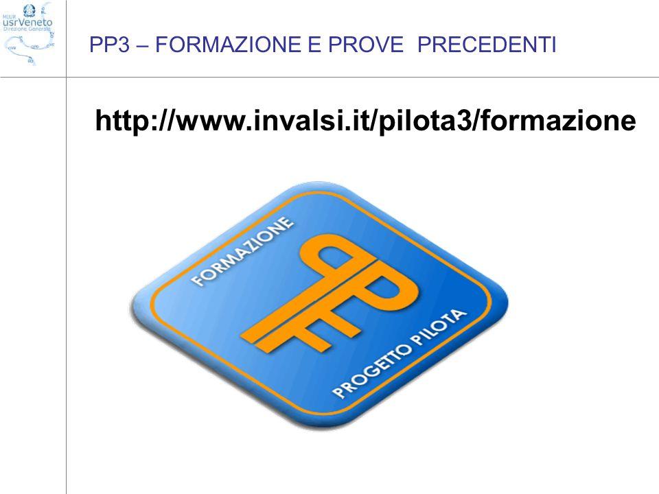 PP3 – FORMAZIONE E PROVE PRECEDENTI