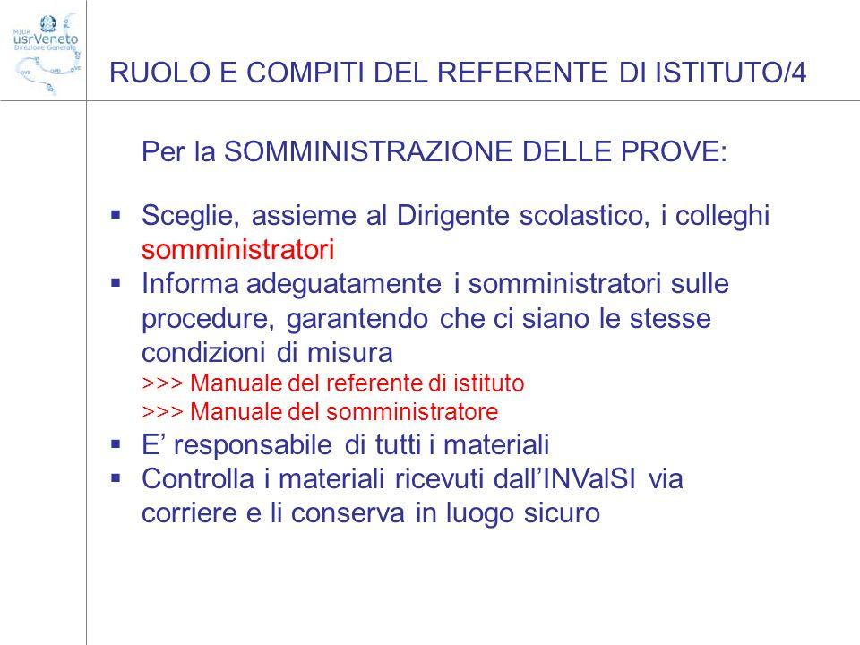 RUOLO E COMPITI DEL REFERENTE DI ISTITUTO/4