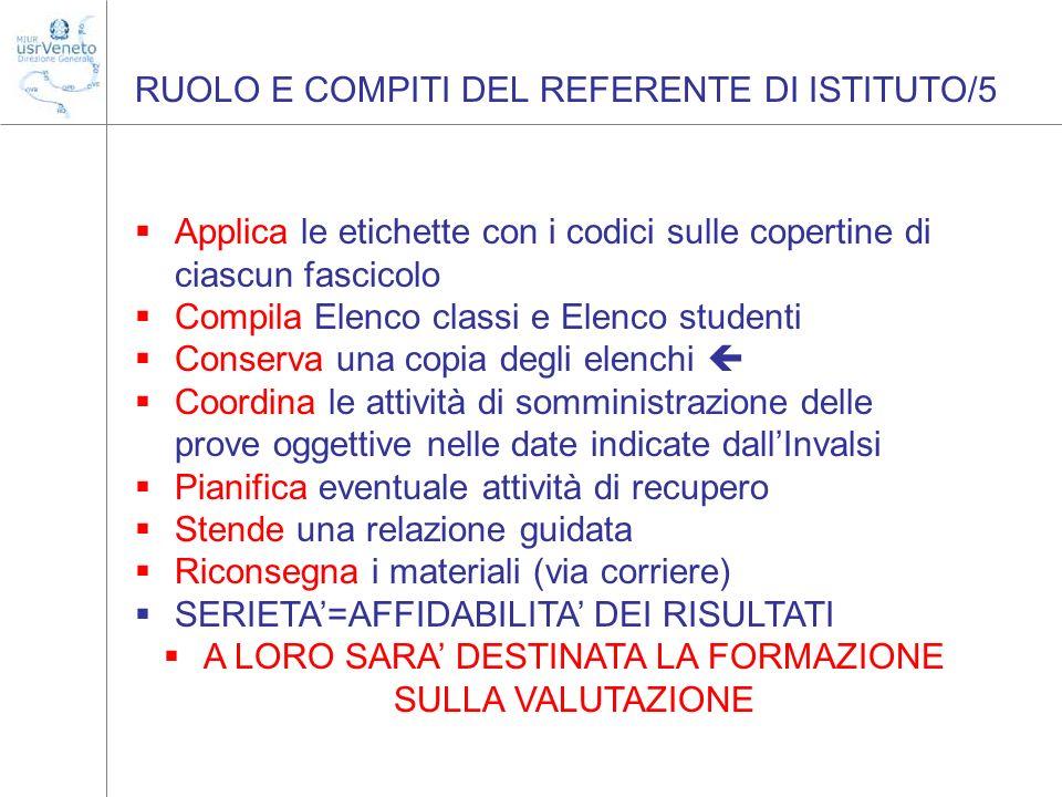 RUOLO E COMPITI DEL REFERENTE DI ISTITUTO/5