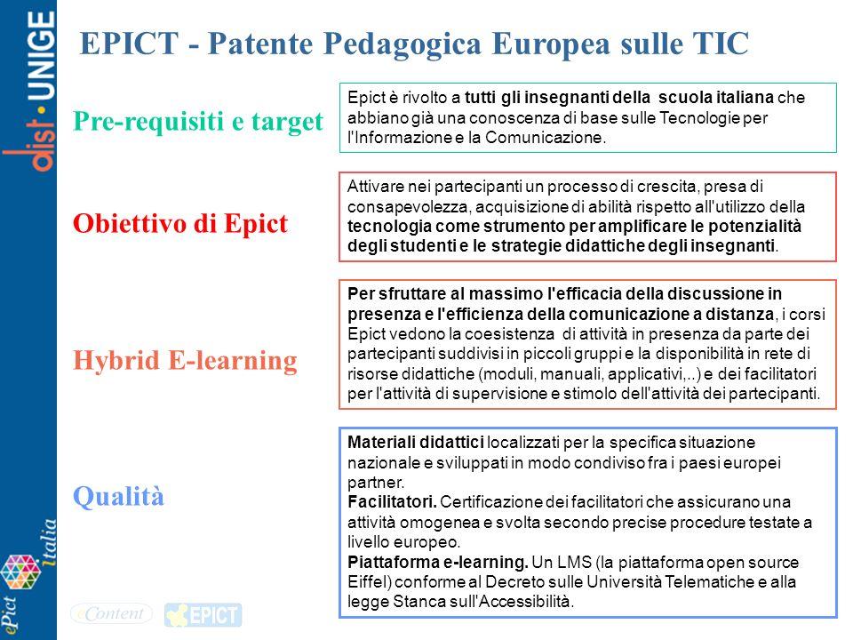 EPICT - Patente Pedagogica Europea sulle TIC
