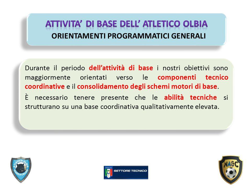 ATTIVITA' DI BASE DELL' ATLETICO OLBIA ORIENTAMENTI PROGRAMMATICI GENERALI