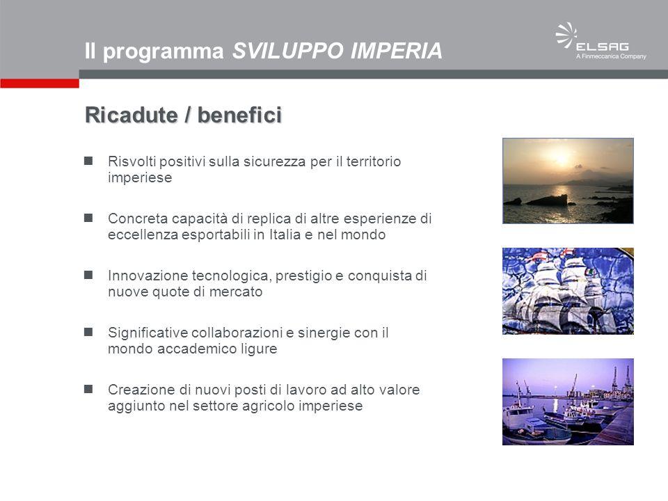 Il programma SVILUPPO IMPERIA Ricadute / benefici