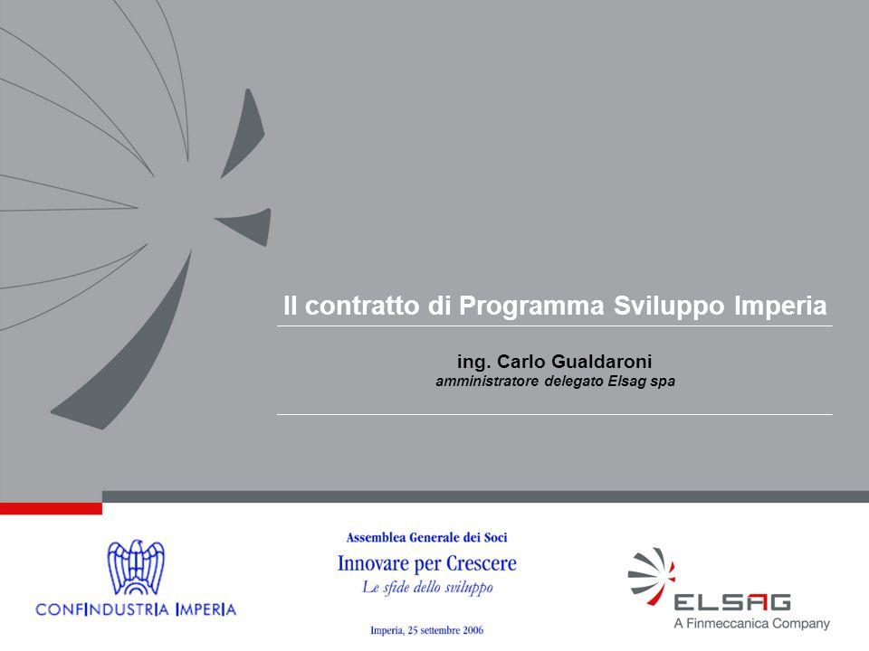 Il contratto di Programma Sviluppo Imperia ing