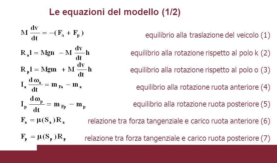 Le equazioni del modello (1/2)