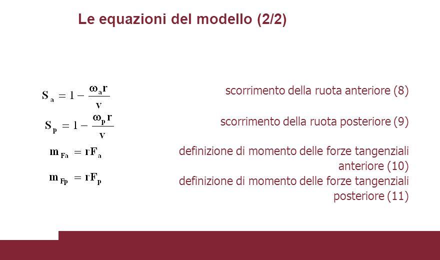 Le equazioni del modello (2/2)