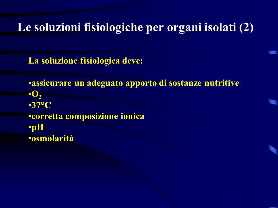 Le soluzioni fisiologiche per organi isolati (2)