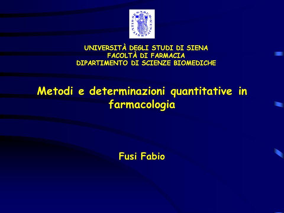 Metodi e determinazioni quantitative in farmacologia