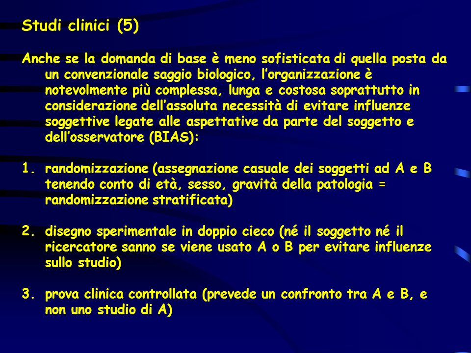 Studi clinici (5)