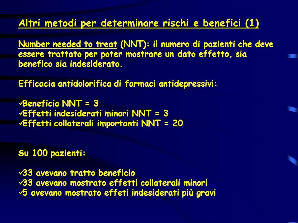 Altri metodi per determinare rischi e benefici (1)