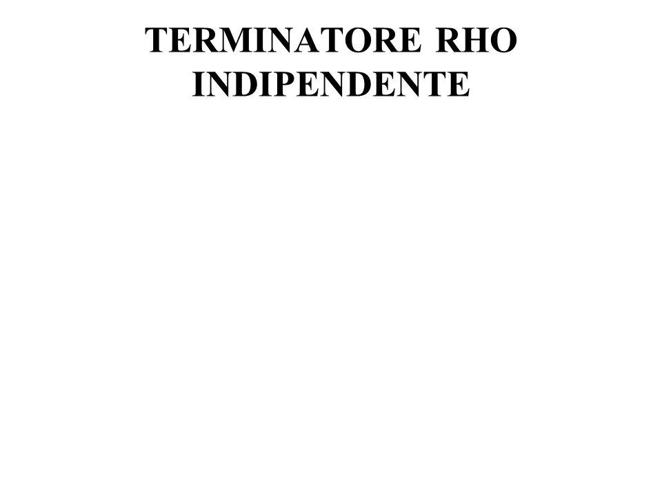 TERMINATORE RHO INDIPENDENTE