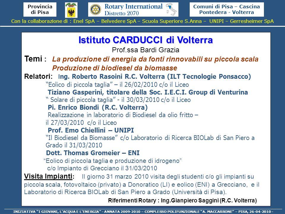 Istituto CARDUCCI di Volterra