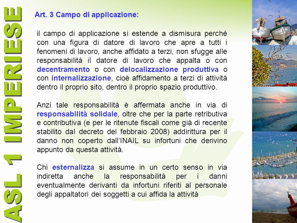 Art. 3 Campo di applicazione: